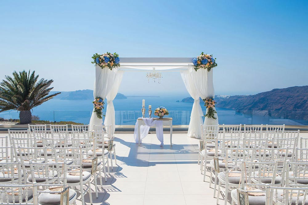 Le Ciel Santorini Wedding Venue Santorini Wedding Venues